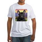 French Bulldog Meadow Fitted T-Shirt