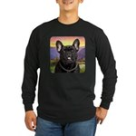 French Bulldog Meadow Long Sleeve Dark T-Shirt