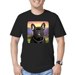 French Bulldog Meadow Men's Fitted T-Shirt (dark)
