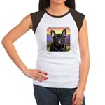 French Bulldog Meadow Women's Cap Sleeve T-Shirt