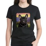 French Bulldog Meadow Women's Dark T-Shirt
