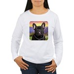 French Bulldog Meadow Women's Long Sleeve T-Shirt