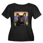 French Bulldog Meadow Women's Plus Size Scoop Neck