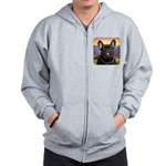 French Bulldog Meadow Zip Hoodie