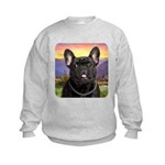 French Bulldog Meadow Kids Sweatshirt