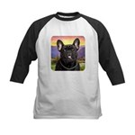 French Bulldog Meadow Kids Baseball Jersey