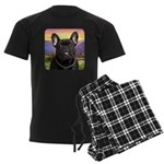 French Bulldog Meadow Men's Dark Pajamas