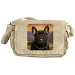 French Bulldog Meadow Messenger Bag