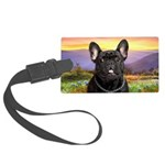French Bulldog Meadow Large Luggage Tag