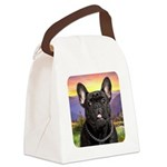 French Bulldog Meadow Canvas Lunch Bag