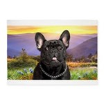 French Bulldog Meadow 5'x7'Area Rug