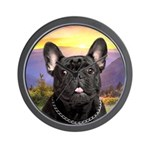 French Bulldog Meadow Wall Clock