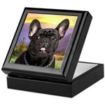 French Bulldog Meadow Keepsake Box
