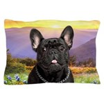 French Bulldog Meadow Pillow Case