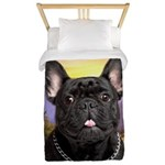 French Bulldog Meadow Twin Duvet