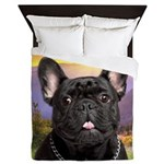 French Bulldog Meadow Queen Duvet
