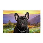 French Bulldog Meadow 3'x5' Area Rug