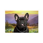 French Bulldog Meadow Rectangle Magnet (100 pack)