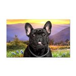 French Bulldog Meadow Rectangle Car Magnet