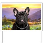 French Bulldog Meadow Yard Sign