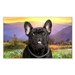 French Bulldog Meadow Sticker (Rectangle 10 pk)