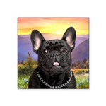 French Bulldog Meadow Square Sticker 3