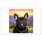French Bulldog Meadow Large Poster