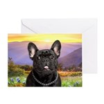 French Bulldog Meadow Greeting Card