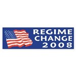 Regime Change 2008 bumper sticker