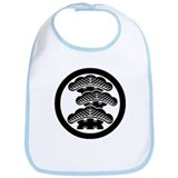 Three-tiered pine R in circle Bib