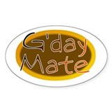 G'day Mate Oval Decal