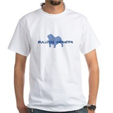 Bulldog Grandpa Ash Grey T-Shirt T-Shirt