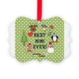 Cute Christmas mimi Picture Ornament