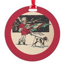 fox terrier holiday Ornament
