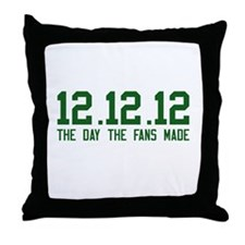 All Green Throw Pillow