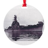 USS South Dakota BB 57 LITE trans.png Ornament