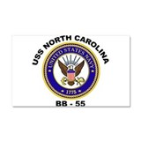 USS North Carolina BB 55 LITE Trans.png Car Magnet