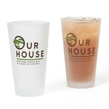 Our House Logo Drinking Glass