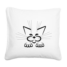 Plotting attack! Square Canvas Pillow