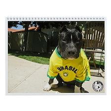 Unique Pit bull rescue Wall Calendar