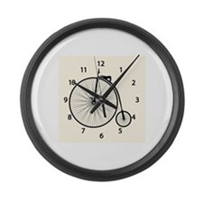 Cute Antique bicycle Large Wall Clock