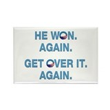 Obama Won. Get Over It. Rectangle Magnet (10 pack)