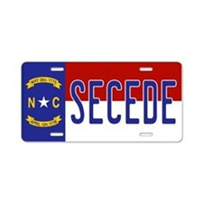 Secede - NORTH CAROLINA Aluminum License Plate