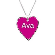 Ava Pink Heart Necklace Charm