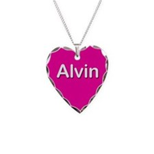 Alvin Pink Heart Necklace Charm