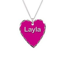 Layla Pink Heart Necklace Charm