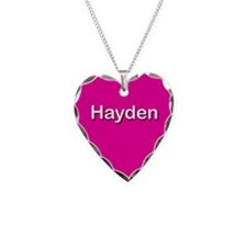 Hayden Pink Heart Necklace Charm