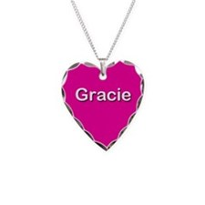 Gracie Pink Heart Necklace Charm