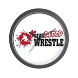 Wrestling Give Blood Wall Clock
