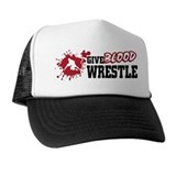 Wrestling Give Blood Trucker Hat